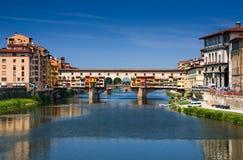 Ponte Vecchio πέρα από Arno τον ποταμό, Φλωρεντία, Τοσκάνη στην Ιταλία Στοκ φωτογραφία με δικαίωμα ελεύθερης χρήσης