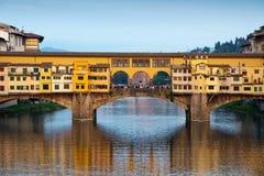 Ponte Vecchio στη Φλωρεντία Στοκ Φωτογραφίες