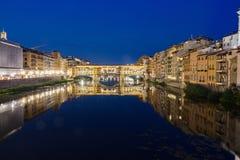 Ponte Vecchio τη νύχτα Στοκ Φωτογραφία