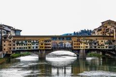 Ponte Vecchio и река стоковое фото rf