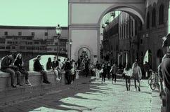 Ponte Vecchio &乌菲齐 图库摄影