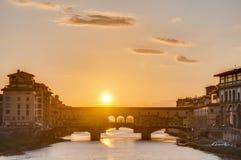 Ponte Vecchio (老桥梁)在佛罗伦萨,意大利。 免版税库存照片