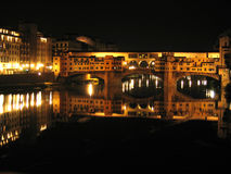 Ponte Vecchio. By night, Florence, Italy Stock Photography