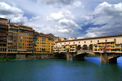 Ponte Vecchio. Famous bridge Ponte Vecchio on Arno river in Florence (Firenze) - capital city of the region of Tuscany, Italy Royalty Free Stock Image