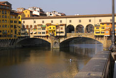 Ponte Vecchio and the Arno Stock Photo
