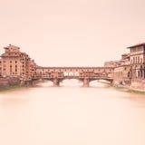 Ponte Vecchio Arno. Florence, Toscanië, Italië Royalty-vrije Stock Fotografie