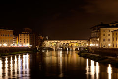 Ponte Vecchio, Arno night, Florence, Italy Royalty Free Stock Photo