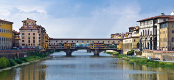 Ponte Vecchio. And Arno river, Florence, Italy Royalty Free Stock Photography
