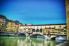 Ponte Vecchio and Arno river in hdr Stock Images