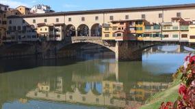Ponte Vecchio, Arno river landscape Royalty Free Stock Images