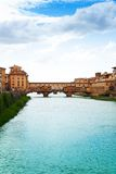 Ponte Vecchio and Arno river Stock Images