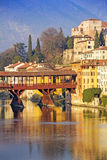 The Ponte Vecchio in Bassano del Grappa Stock Photography