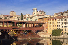 The Ponte Vecchio in Bassano del Grappa Royalty Free Stock Photo