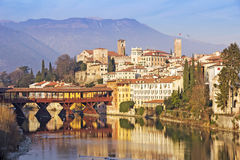 The Ponte Vecchio in Bassano del Grappa Stock Photo