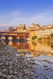 The Ponte Vecchio in Bassano del Grappa Stock Images