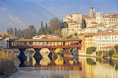 The Ponte Vecchio in Bassano del Grappa Stock Photos