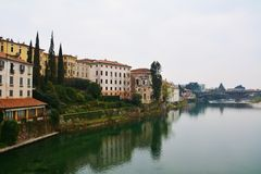 The Ponte Vecchio in Bassano del Grappa, Italy Royalty Free Stock Photos