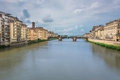 Ponte vecchio Brücke in Florenz Lizenzfreies Stockbild