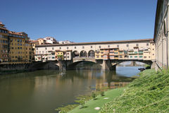 Ponte Vecchio bridge. Scenic view of Ponte Vecchio bridge over Arno river, Florence, Tuscany, Italy Stock Photography