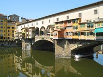Ponte Vecchio Bridge. In Florence, Italy stock image
