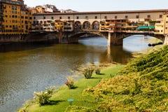 Ponte Vecchio Bridge Across Arno River Royalty Free Stock Image
