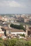 Ponte Vecchio Bridge and Arno River, Florence Stock Photography