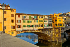 Ponte Vecchio bridge in Florence. Detail of the famous Ponte Vecchio Bridge, Italy Stock Photography