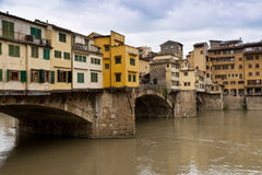 Ponte Vecchio bridge in Florence. Stock Photo
