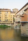 Ponte Vecchio Bridge Florence. Detail of the buildings on the Ponte Vecchio Bridge, Florence , Italy Royalty Free Stock Photos