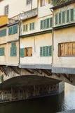 Ponte Vecchio Bridge Florence. Detail of the buildings on the Ponte Vecchio Bridge, Florence , Italy Royalty Free Stock Image