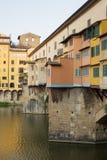 Ponte Vecchio Bridge Florence. Detail of the buildings on the Ponte Vecchio Bridge, Florence , Italy Stock Photos
