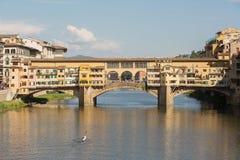 Ponte Vecchio Bridge Florence. Detail of  the Ponte Vecchio Bridge over the Arno River,Florence , Italy Stock Images