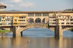 Ponte Vecchio Bridge Florence. Detail of  the Ponte Vecchio Bridge over the Arno River,Florence , Italy Stock Image