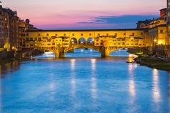 The Ponte Vecchio bridge in  Florence, Firenze, Italy.  Royalty Free Stock Photo