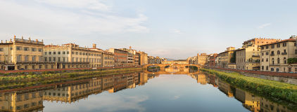 Ponte Vecchio Bridge Florence. Ponte Vecchio Bridge and historic buildings along the Arno river, Florence , Italy Royalty Free Stock Photo