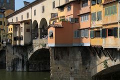 Ponte Vecchio Bridge in Florence, Italy Stock Photos