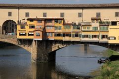 Ponte Vecchio Bridge in Florence, Italy Royalty Free Stock Photography