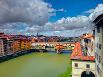 Ponte Vecchio Bridge in Florence. Italy. Royalty Free Stock Images