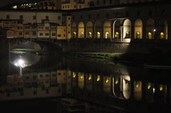 Ponte Vecchio Bridge, Florence, Italy at night Royalty Free Stock Photography