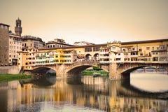 Ponte Vecchio bridge in Florence Stock Photography