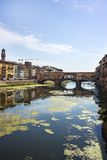 Ponte Vecchio bridge in Florence in Italy in summertime Stock Photos