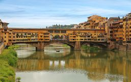 Ponte Vecchio bridge in Florence, Italy stock images