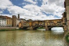 Ponte Vecchio bridge, Florence, Italy. View on Ponte Vecchio bridge (Old Bridge) over the river Arno in Florence, Tuscany, Italy Stock Photos