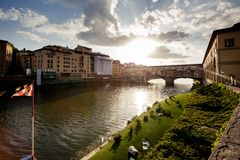 Ponte Vecchio Bridge, Florence Stock Photo