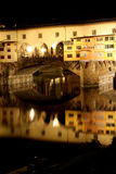 Ponte Vecchio bridge in Florence at night Royalty Free Stock Images