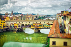 Ponte Vecchio bridge in Florence Stock Photo