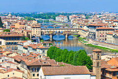 Ponte Vecchio Bridge, Florence, Tuscany Stock Photo