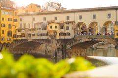 Ponte Vecchio bridge, Florence, Tuscany, Italy. Ponte Vecchio bridge, sunset at Florence, Tuscany, Italy Royalty Free Stock Photos