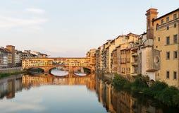 Ponte Vecchio Bridge Florence. View of the  Ponte Vecchio Bridge, over the Arno River, Florence , Italy Royalty Free Stock Photo