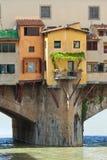 Ponte Vecchio bridge, Italy. View of Ponte Vecchio bridge over Arno river in Florence, Italy Stock Images